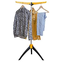 ArtMoon Elm Sturdy Foldable Clothes Airer | Foldable Clothes Rail | Hangaway Clothes Hanger Stand Three Arms | Clothes Drying Rack Indoor/Outdoor | Very Easy to Set Up | 23.6X22.4X51.2