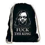 Shirtdepartment Game of Thrones - Turnbeutel - Fuck The King - von Shirt Department, schwarz-Weiss