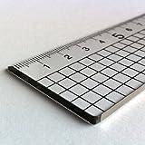 60cm Schneidelineal mit Stahlkante Metallkante Transparenten Plexi Kunstoff Lineal Schneide-Lineale Zeichenlineal Technisches Zeichnen