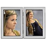 Hama Portrait Bilderrahmen Philadelphia (Fotogröße 2x 10 x15 cm), silber