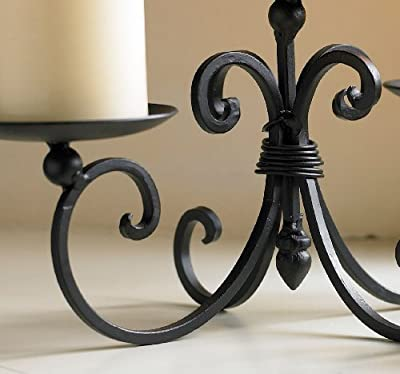 Three Pillar Iron Candle Display Holder