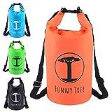 Funny Tree® Drybag. (20L orange) Wasserdichter (IPx6), verbesserter DryBag, schwimmfähig. Inklusive wasserdichter Handy-Hülle   Stand Up Paddle   Wassersport   Ski-Fahren   Snow-Boarden   Tauchen