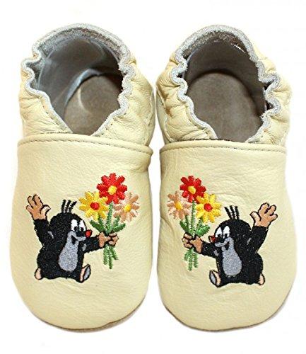Bild von HOBEA-Germany Krabbelschuhe Babyschuhe der Kleine Maulwurf Pauli in Verschiedenen Designs, Jungen und Mädchen