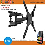 ABISHA ENTERPRISES 6 Way Dual Arm Swivel Tilt TV Wall Mount for LCD/LED