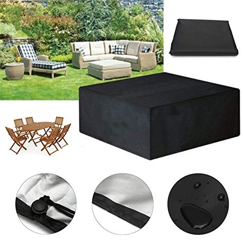 AAHIX Outdoor Gartenmöbel Abdeckung Wasserdichte Möbel Sofa Regen Staubschutz Wicker Sofa Set Schutz Tuch Tisch Stuhl Staubdicht Abdeckung,250x250x90cm -