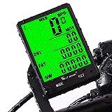 Ordinateur de vélo, vélo Odomètre Compteur de vitesse pour vélo, sans fil étanche LCD automatique Réveil rétroéclairage détecteur de mouvement pour Bycicles Cyclisme Accessoires, mixte, Wireless-Black