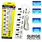 6 socket (Port) Surge Protector Spike Guard |Extension - Best Reviews Guide