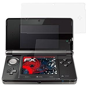 atFoliX Schutzfolie passend für Nintendo 3DS 2011 Folie, entspiegelnde und flexible FX Displayschutzfolie (3er Set)