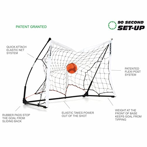 QUICKPLAY Kickster Elite Indoor   Outdoor Portable Football Goal   Features Weighted Base  12x6