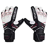 Sportout Youth Adult Goalie Goalkeeper Gloves,Strong Grip for The Toughest Saves, With Finger Spines to Give Splendid Protection to Prevent Injuries