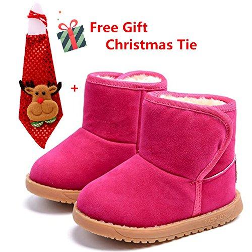 Winter Baby Warme Stiefel, Morbuy Kinder Mädchen Junge Schuhe Schnee Stiefel Draussen Casual Kleinkind Warme Rutschfest Bequem Winterschuhe Leder Schneestiefel Weihnachten Geschenk (Kleinkind-jungen-schnee-stiefel)