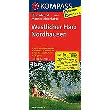 Westlicher Harz - Nordhausen: Fahrrad- und Mountainbikekarte. GPS-genau. 1:70000 (KOMPASS-Fahrradkarten Deutschland, Band 3048)