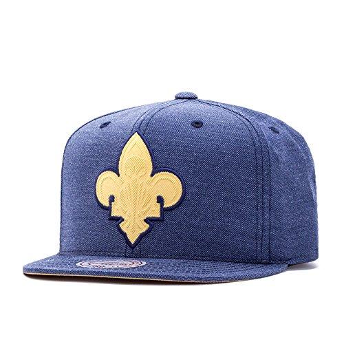Mitchell & Ness New Orleans Pelicans Cut Heather Snapback Cap navy/khaki