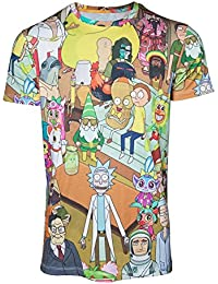 Rick & Morty T-shirt Printed Allover Mens Multicolor