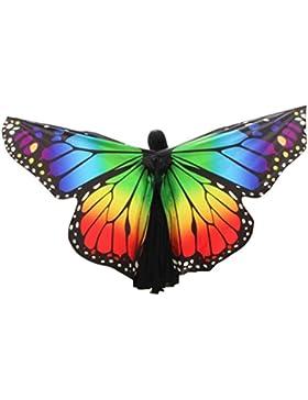 K-youth® Danza Del Vientre Mariposa Alas De ángel Adulto Suave Rainbow Mariposa Alas Danza Disfraz Accesorio Alas...