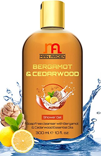 Man Arden Bergamot & Cedarwood Pure Oils Shower Gel - Rich & Luxury Body Wash - 300 ml