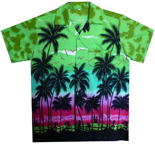 Funky Hawaiihemd, Beach, grün, XL