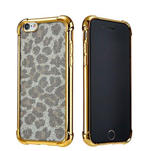 NWNK13 ® Fin élégant souple dos transparent avec bords couleur Coque pour iPhone 6/6S (4.7) avec film d'écran & Stylet Tactile