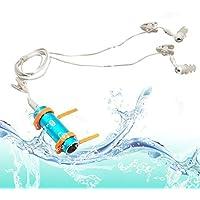 Tera 4 GB de memoria a prueba de agua natación Deporte reproductor de mp3 con la cubierta de aluminio del MP3 FM Azul