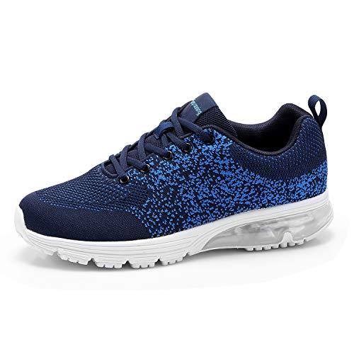 Goalsse Sportschuhe für Herren und Damen Laufschuhe Fitness Turnschuhe Atmungsaktiv Sneakers Outdoor Schuhe(44EU, Blau)