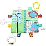 Bescita Baby Kleines Buch Entwicklungs Rassel Spielzeug Schöne Crinkle Phantasie SpielzeugGeschenk (D)