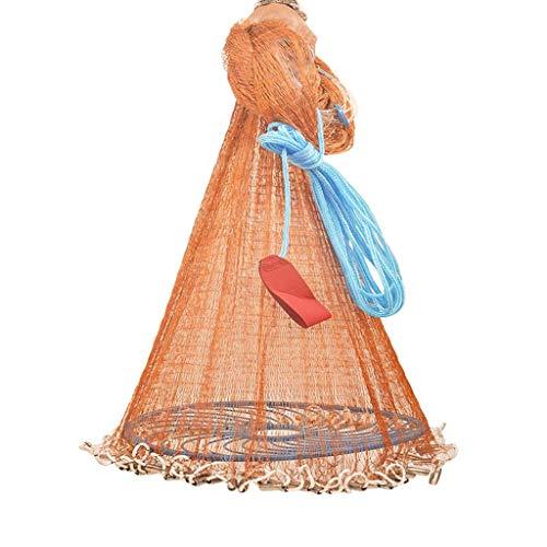 Fischernetze werfen Netze, Fliegende Scheiben, Fisch einfach zu werfen, automatische Angelwerkzeuge Reifen Draht Frisbee - 360 Stahl Anhänger, (Size : 3.6m Steel Pendant)