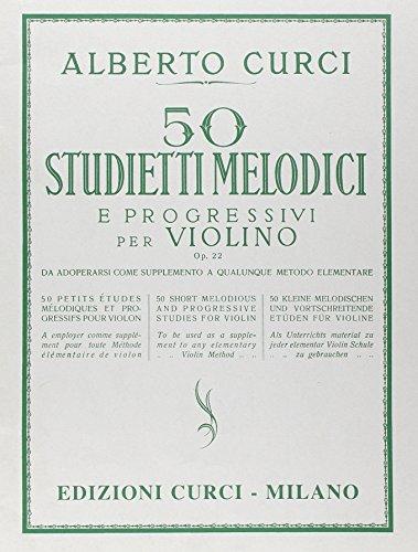 50 studietti melodici e progressi per violino opera 22