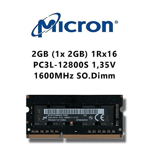Ram 2gb Notebook Ddr3 (Micron 2GB (1x 2GB) DDR3 1600MHz (PC3L 12800S) SO Dimm Low Voltage Notebook Laptop Arbeitsspeicher RAM Memory)