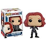 Funko- Black Widow Pop Vinile Marvel Capitan America Vedova Nera, 7230