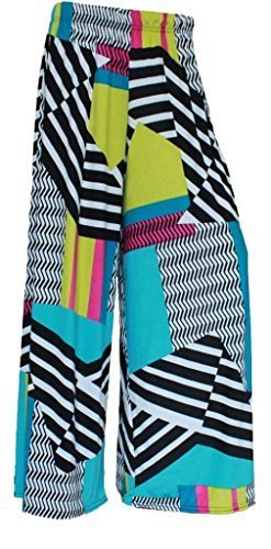 Womens Multi-Coloured Abstract Palazzo Pants. Sizes 8 to 26