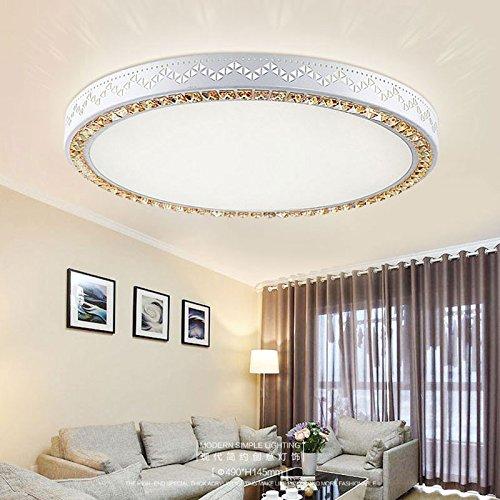 CLG-FLY Atmosferica Crystal soffitto lampada camera soggiorno studio illuminazione minimalista moderna,Cerchio di diametro 49CM 36W