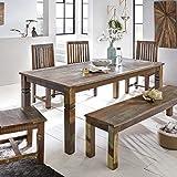 Esszimmertisch KALKUTTA 180 x 90 x 76 cm Mango Shabby Chic Massiv-Holz | Design Landhaus Esstisch Bootsholz | Tisch für Esszimmer rechteckig | 6-8 Personen