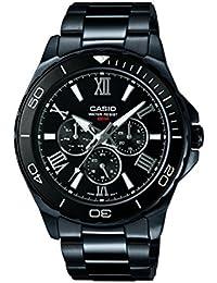 Casio Herren-Armbanduhr Analog Quarz Edelstahl MTD-1075BK-1A1VEF