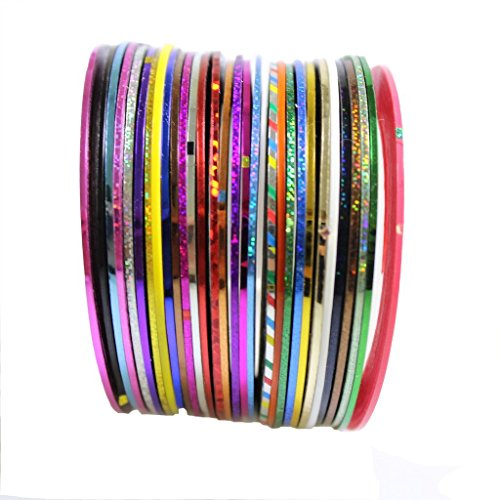 30-colour-pro-nail-art-tape-set-for-nail-striping-accents-by-kurtzy-tm