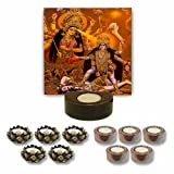 YaYa Cafe™ Maa Durga Maa Kali Tealight Candle Holder Divine Religious Navratras Durga Puja Gifts - Set of 11