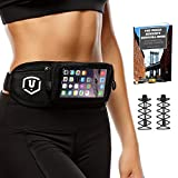 Running Belt - Touchscreen Compatible Complete Bundle + Two Bonuses Elastic Laces PLUS Urban Runner's Survival Guide Ebook - For Any SmartPhone