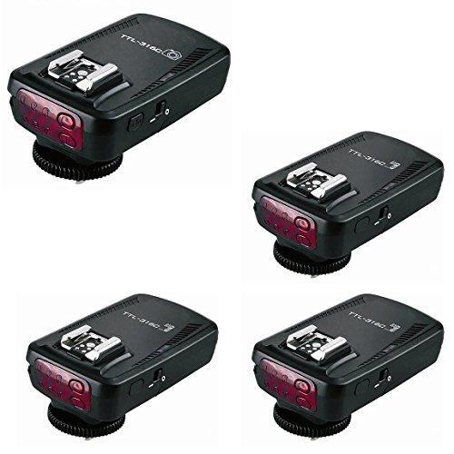 PHOTAREX TTL-316C High Speed E-TTL-Blitzauslöser bis 1/8000 Sek. für Canon + 2 Zusatzempfänger