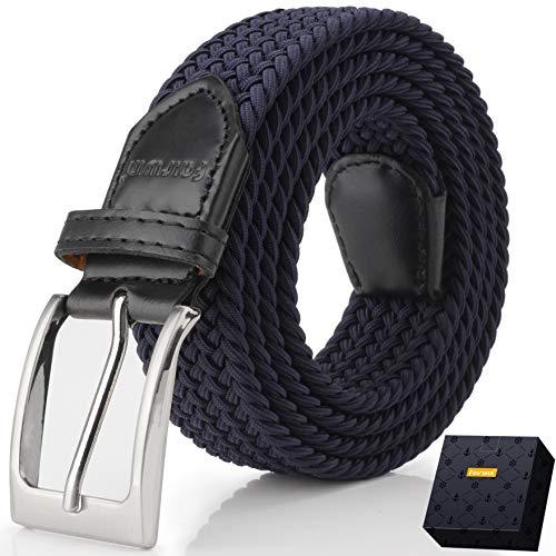 Fairwin Cintura Elastica Intrecciata per Uomo e Donna Confortevole Cintura Tessuto Elastico Stretchper Jeans Pantaloni