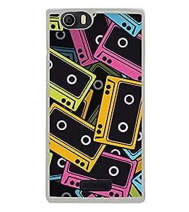 Music Tapes 2D Hard Polycarbonate Designer Back Case Cover for Micromax Canvas Nitro 2 E311