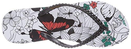 flip*flop slim butterfly Damen Zehentrenner Mehrfarbig (000 black)