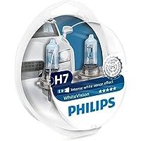 Philips 12972WHVSM WhiteVision Bombilla para Faros Delanteros con Efecto Xenon H7, 2 Unidades