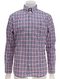 Gant Gc. Backspin Poplin Check Ls Bd - Regular - Homme