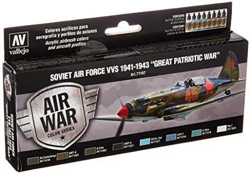 Acrylicos Vallejo'Soviet Air Force Vvs 1941-43grande guerra Patriottica' Model Air set