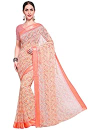 SAREE MALL Georgette Saree With Blouse Piece (saree Party Wear Designer SF222_Pink_Free Size)