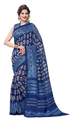 Vimla Women's Tassar Silk Saree With Blouse Piece (9052_5S9_Blue)
