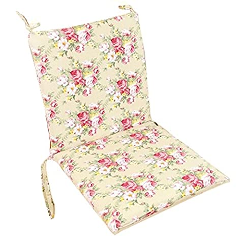 Weiches Home / Office-Sitzkissen High Back Stuhlkissen Romantic Rose, Beige