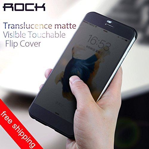 iPhone 7 flip cover Case Rock Drv Luxury flip cover case for Apple Iphone 7 - (Black) …