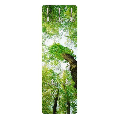 Apalis 78621 Wandgarderobe Bäume des Lebens | Design Garderobe Garderobenpaneel Kleiderhaken Flurgarderobe Hakenleiste Holz Standgarderobe Hängegarderobe | 139x46cm