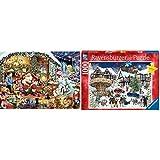 """Ravensburger UK 15354Let 's Besuchen Santa Limited Edition 2018Puzzle &  Erwachsenenpuzzle 15359"""" Verschneites Weihnachtsdorf Puzzle"""