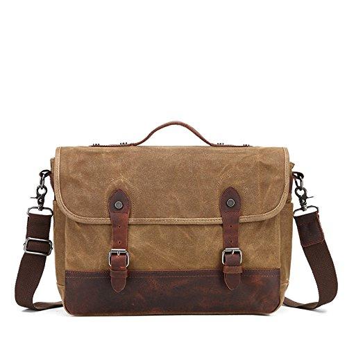 Mefly Spalla Singolo Croce Obliqua Pack Mail Bag Retrò Borsa Impermeabile Kaki Khaki